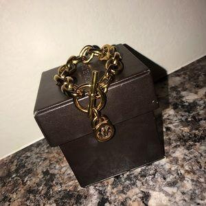 Michael Kors gold chain bracelet